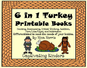 Turkey Math Books - 6 in 1 product