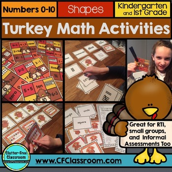 November Math Centers | Turkey Math Centers | Thanksgiving Math Games |  Numbers