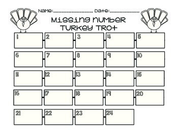 Turkey Math Centers! (common-core aligned)