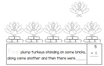 Turkey Math Counting Book (Adding by One)