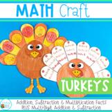 Thanksgiving Math Craft - Turkey