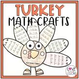 Turkey Math Craft (Multiplication)