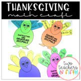 Turkey Math Craftivity: Adding, Subtracting, & Ordering Decimals {editable}