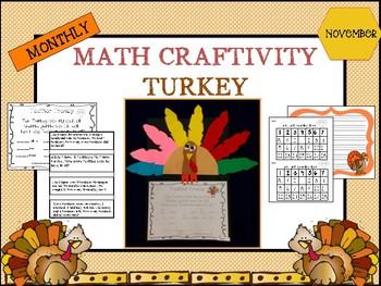 November Turkey Math Craftivity