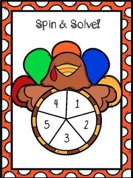 Turkey Math Fact Practice