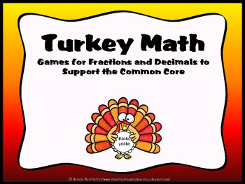 Turkey Math: Fraction and Decimal Games for the Common Core