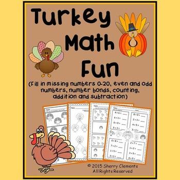 Turkey Math Fun