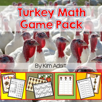 Thanksgiving: Turkey Math Game Pack