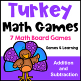 Turkey Math Activities: Turkey Math Games: Addition and Subtraction Games