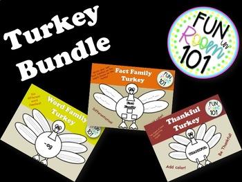 Turkey Math/Literacy Bundle