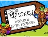 Turkey Math, Literacy and Art Activities
