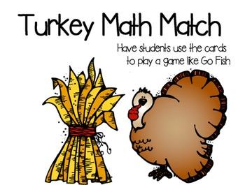 Turkey Math Match