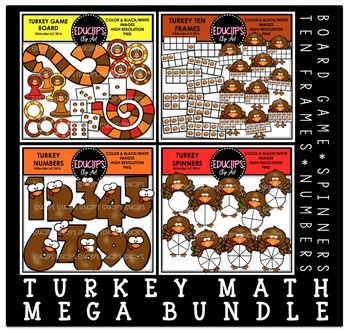 Turkey Math Clip Art Mega Bundle
