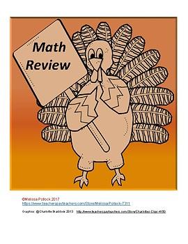Turkey Math Review