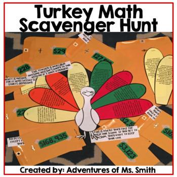 Thanksgiving Turkey (Math) Scavenger Hunt