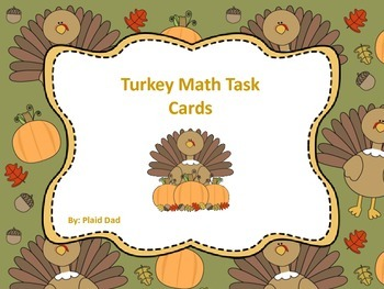 Turkey Math Task Cards