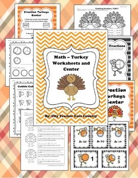 turkey math worksheet center fractions place value. Black Bedroom Furniture Sets. Home Design Ideas