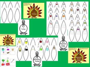 Turkey Math and Language Arts Craftivities