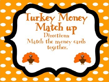 Turkey Math and Literacy Center Mini Packet