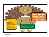 Math and Literacy Centers Minimum Prep Grades 1 and 2 Turkey Theme