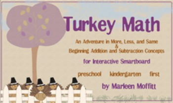 Turkey Math for kindergarten (Notebook 11)