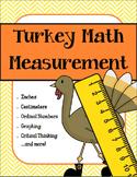 Turkey Measurement - Fun Thanksgiving PRINT AND GO