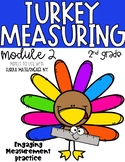 Turkey Measuring {Module 2 Grade 2 Eureka Math Practice}