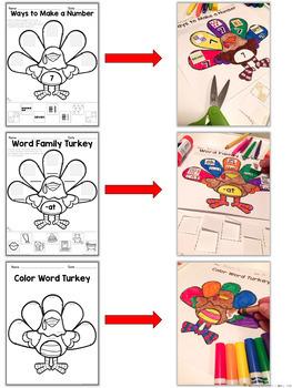 Turkey Mini Pack    {November Math and Literacy}