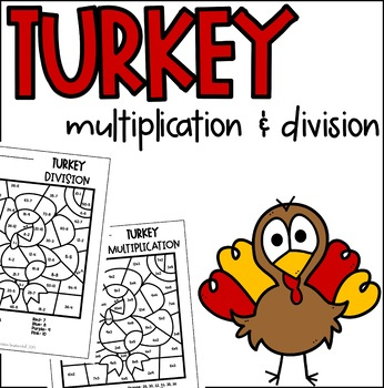 Turkey Multiplication Division Color By Number