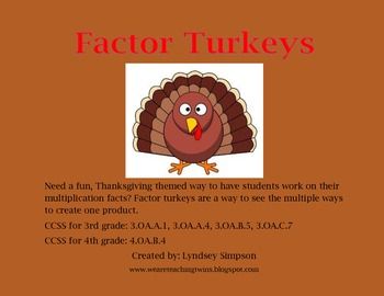 Turkey Multiplication Factors