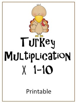 Turkey Multiplication Printable FREE!