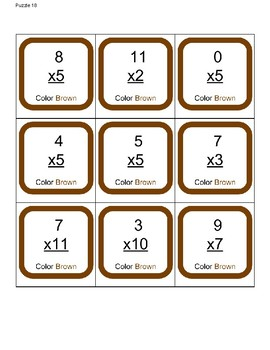 Turkey Multiplication Puzzle