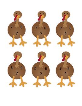 Turkey Multiplication/Division Match-up