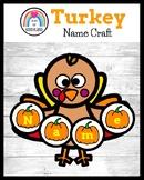 Turkey Name Craft, Literacy Center Activity for Thanksgivi