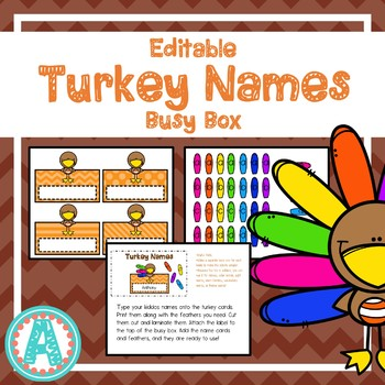 Turkey Names Busy Box