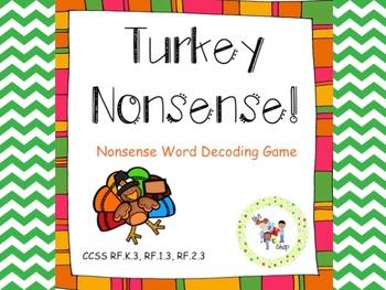 Turkey Nonsense! Nonsense Word Deocoding Game