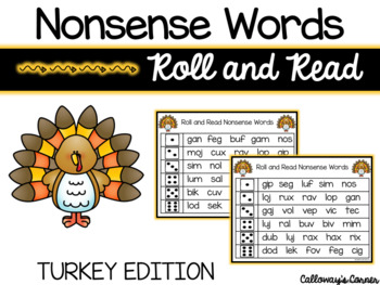 Turkey Nonsense Words-EDITABLE POWERPOINT INCLUDED