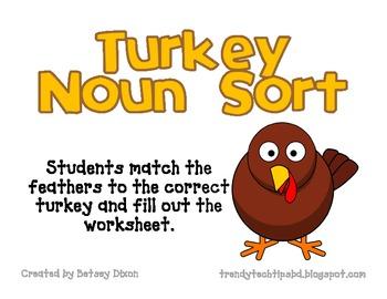 Turkey Noun Sort