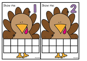 Turkey Number Activity Cards