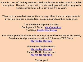 Turkey Math Number Flashcards 0-100