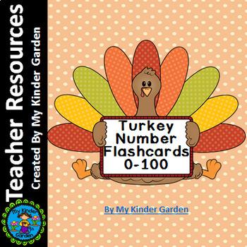 Turkey Number Flashcards 0-100