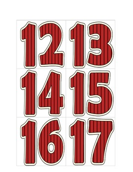 Turkey Number Cards 0-20