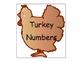 Turkey Number Cards/Calendar Cards