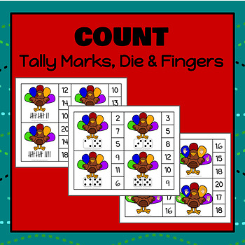 Turkey Number Clip It Cards - S