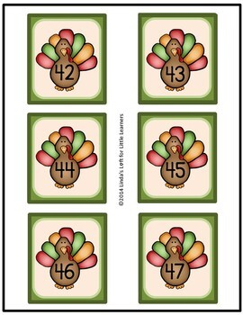 Thanksgiving Number Flashcards 0-50