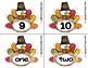 Turkey Number Fluency Cards | English | 1-10