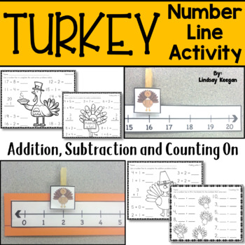 Thanksgiving Turkey Number Line Math Activities
