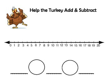 Turkey Number Line Mats