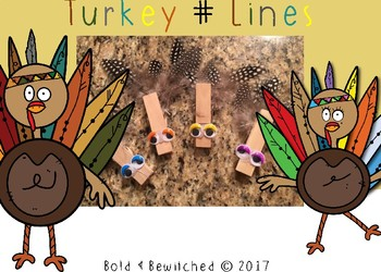 Turkey Number Line for Counting to 20