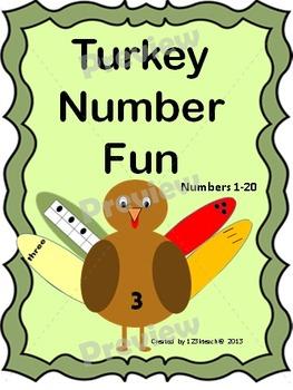 Turkey Number Match Fun
